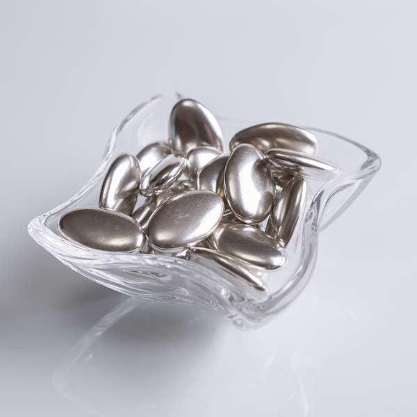La dragée chocolat argentée : Dragées