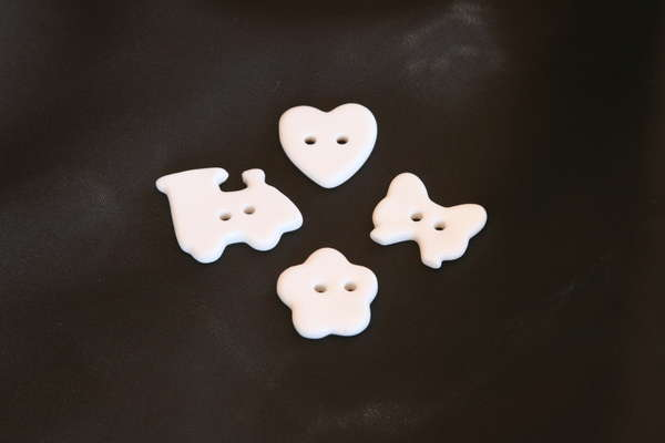 Boutons en porcelaine noeud : Emballages
